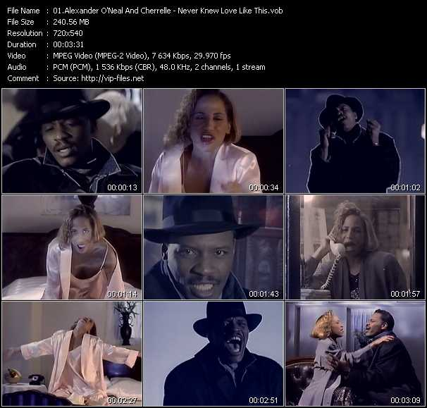 Alexander O'Neal And Cherrelle video screenshot