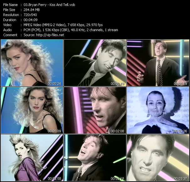 Bryan Ferry video screenshot