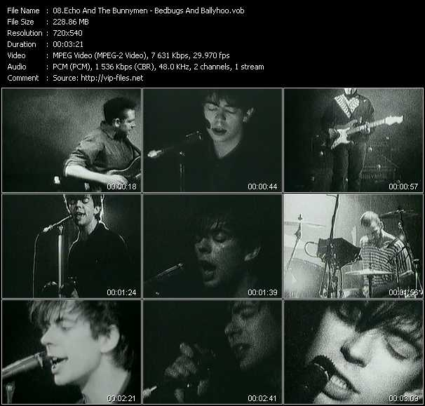 Echo And The Bunnymen video screenshot