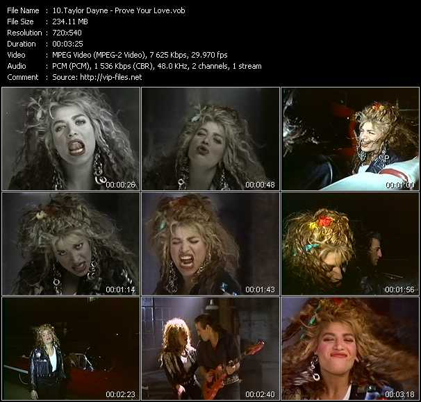 Taylor Dayne video screenshot