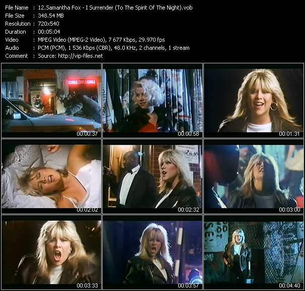 Samantha Fox video screenshot