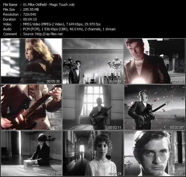 Mike Oldfield video screenshot