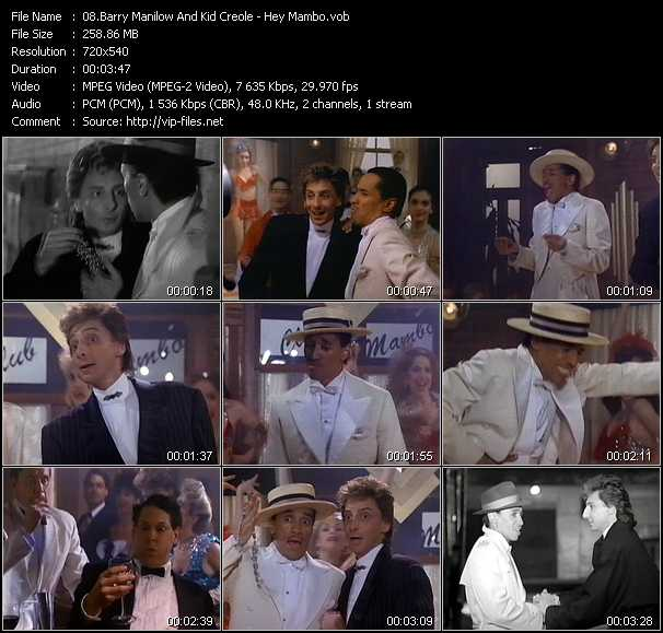 Barry Manilow And Kid Creole video screenshot