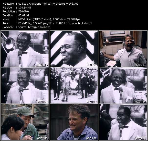 Louis Armstrong video screenshot