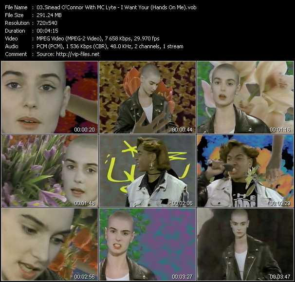 Sinead O'Connor With MC Lyte video screenshot
