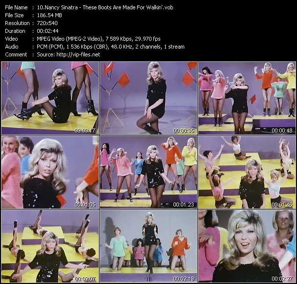 Nancy Sinatra video screenshot