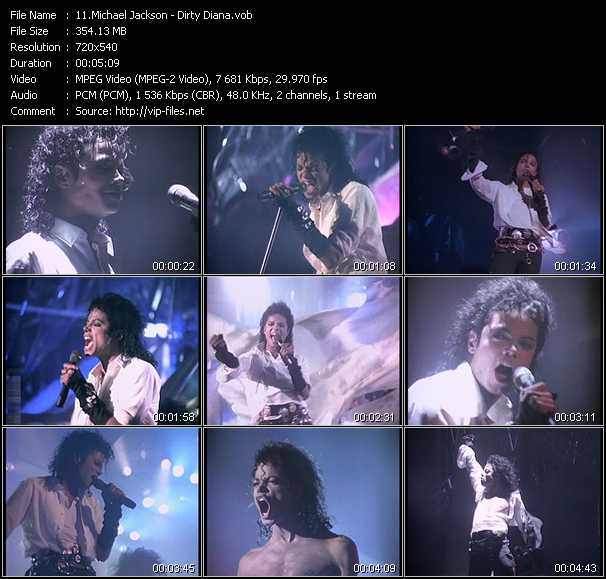 video Dirty Diana screen