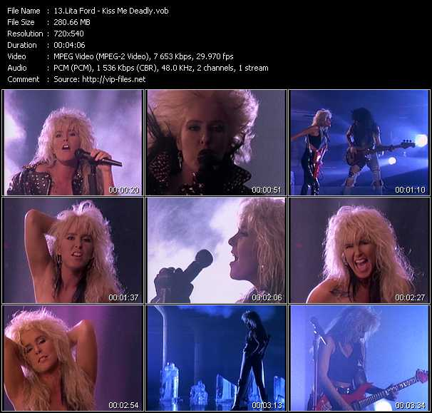 Lita Ford video screenshot