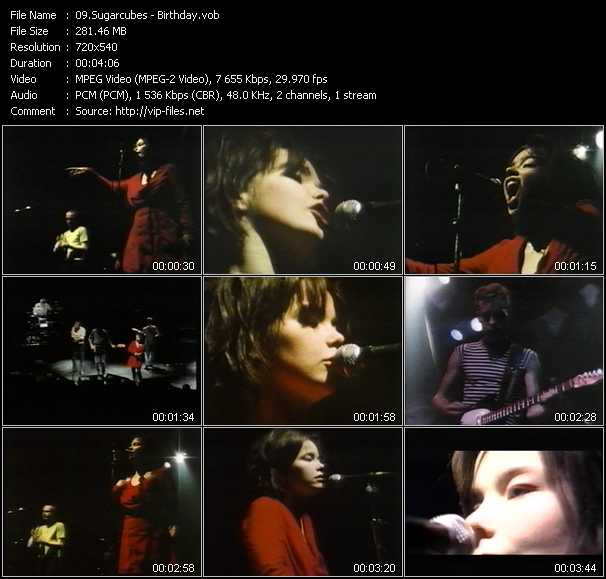 Sugarcubes video screenshot