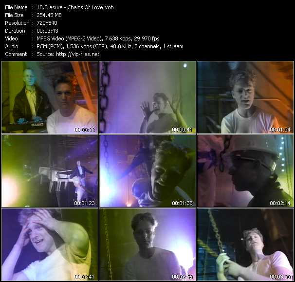 Erasure video screenshot
