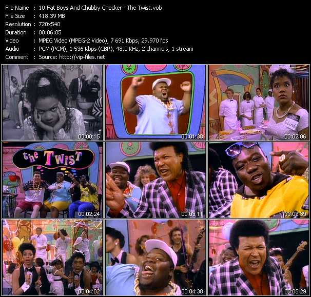 Fat Boys And Chubby Checker video screenshot