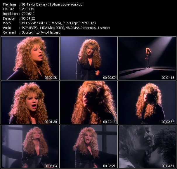 Taylor Dayne video screenshot