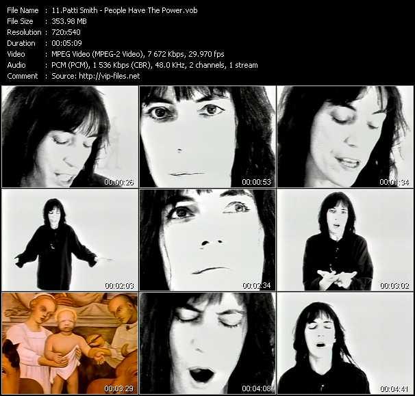 Patti Smith video screenshot