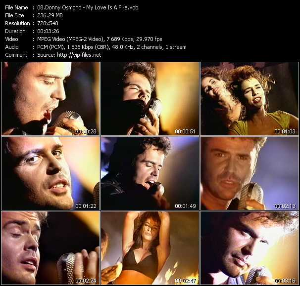 Donny Osmond video screenshot