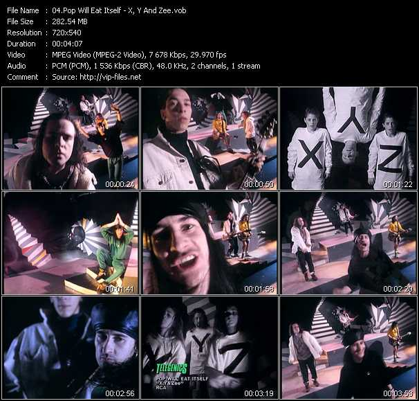 Pop Will Eat Itself video screenshot