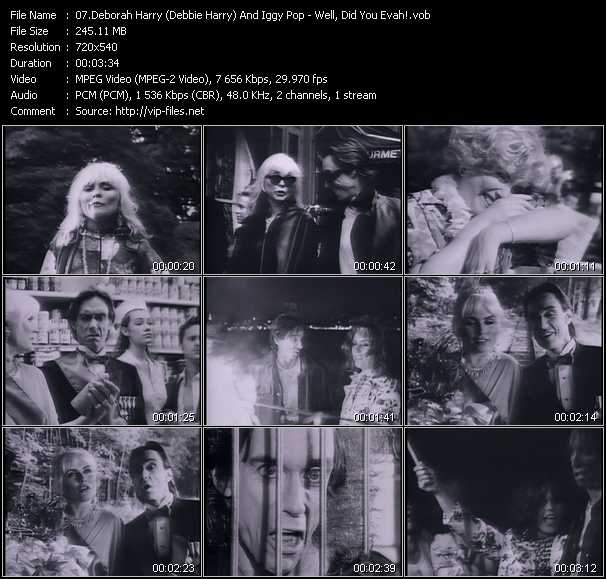 Deborah Harry (Debbie Harry) And Iggy Pop video screenshot