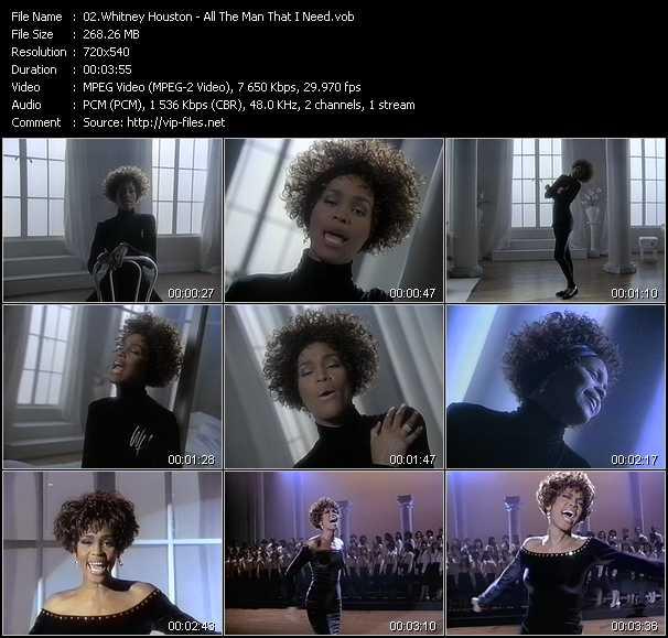 Whitney Houston video screenshot
