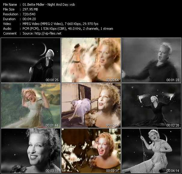 Bette Midler video screenshot
