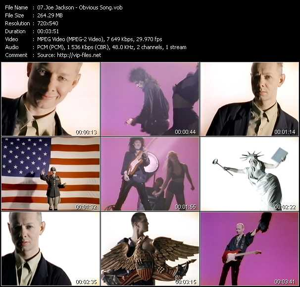 Joe Jackson video screenshot