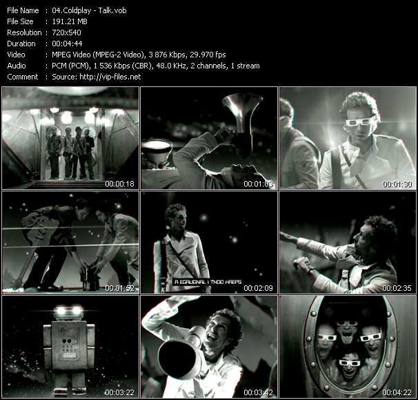 Coldplay video screenshot