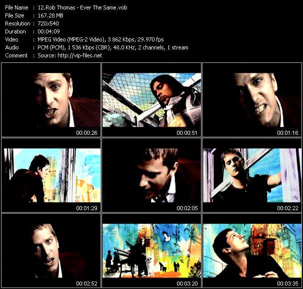 Rob Thomas video screenshot