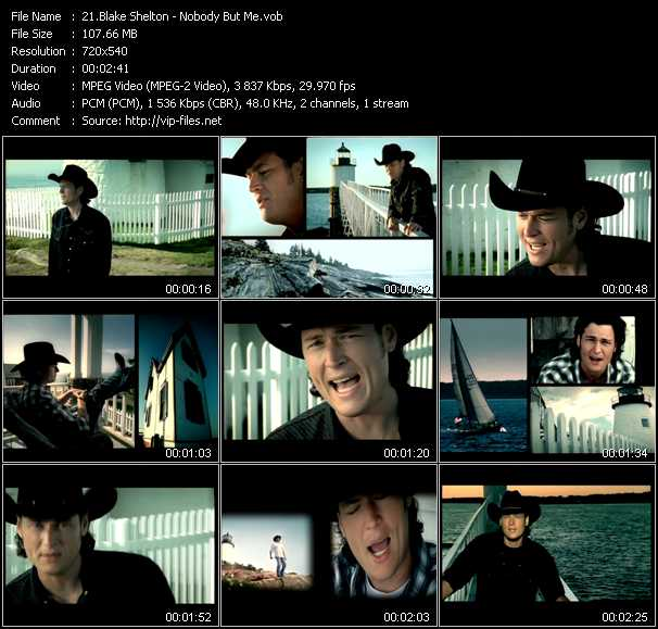 Blake Shelton video screenshot