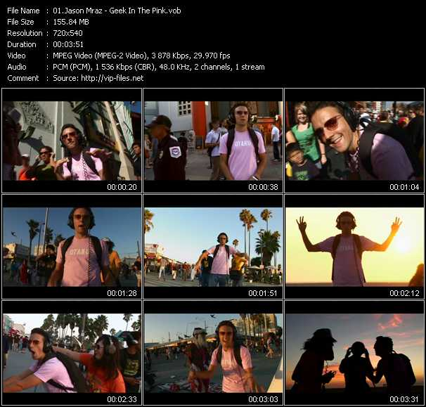 Jason Mraz video screenshot