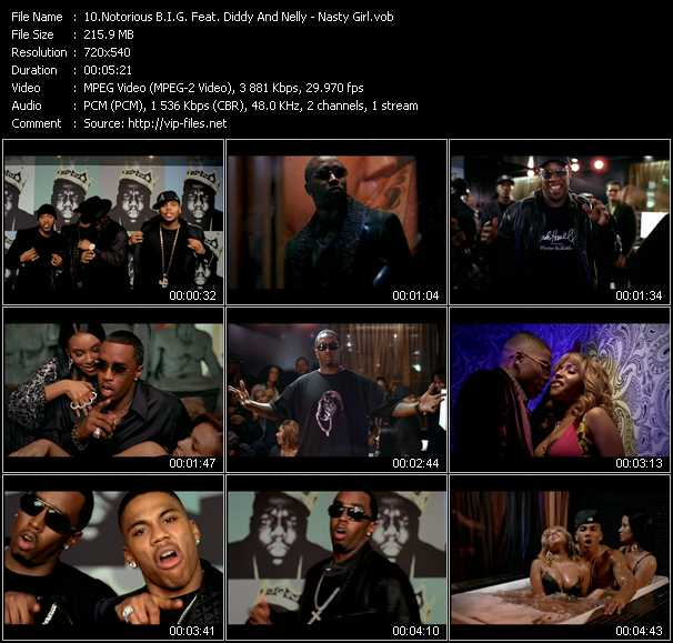 Notorious B.I.G. Feat. P. Diddy (Puff Daddy) And Nelly video screenshot