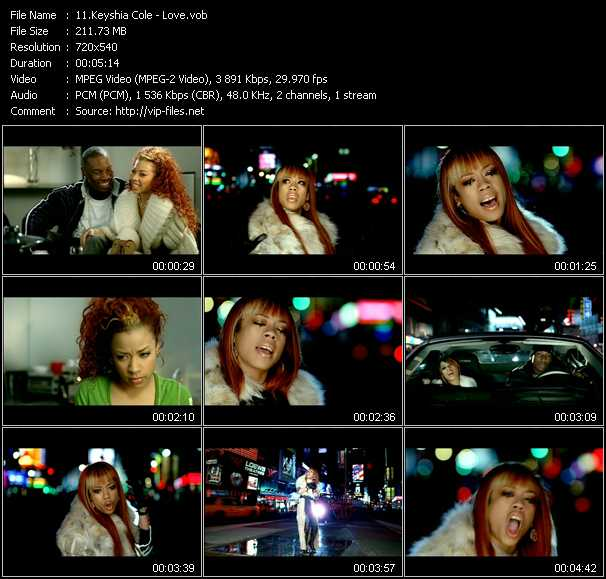 Keyshia Cole video screenshot