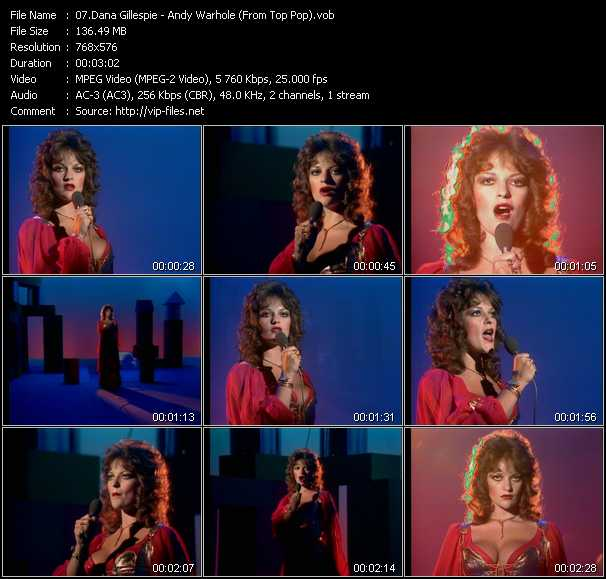 Dana Gillespie video screenshot