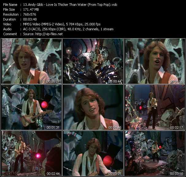 Andy Gibb video screenshot