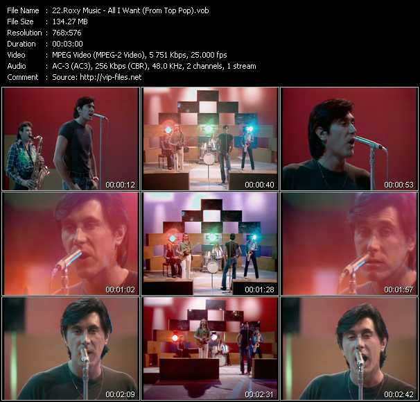 Roxy Music video screenshot