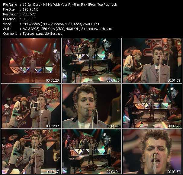 Ian Dury video screenshot