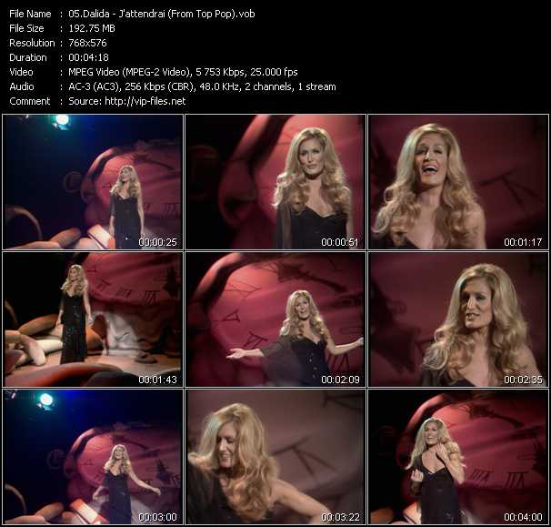 Dalida video screenshot