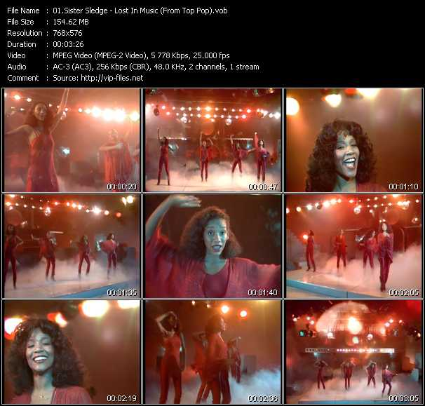 Sister Sledge video screenshot