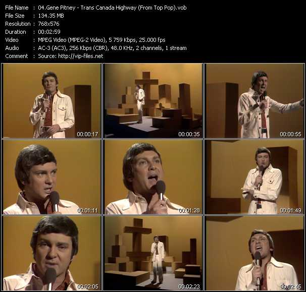 Gene Pitney video screenshot