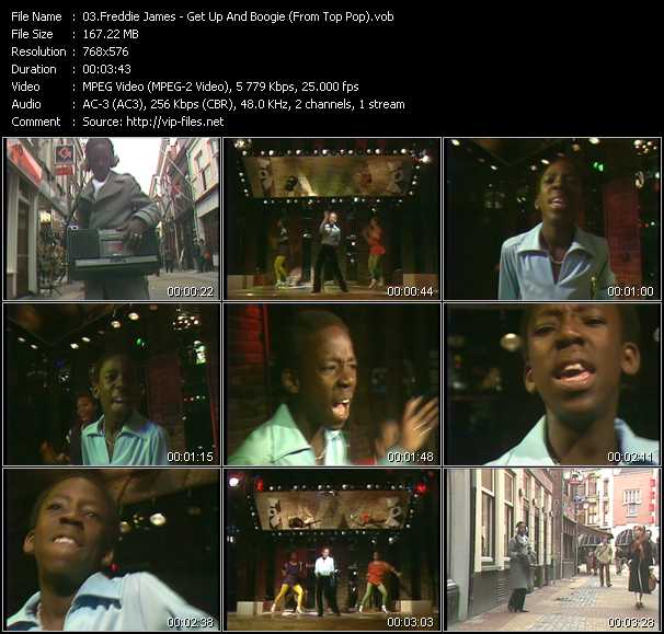 Freddie James video screenshot