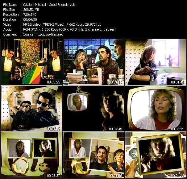 Joni Mitchell video screenshot