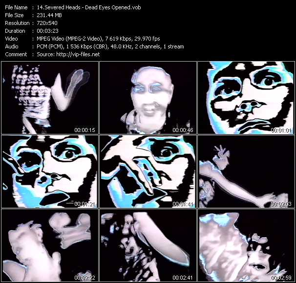 Severed Heads video screenshot