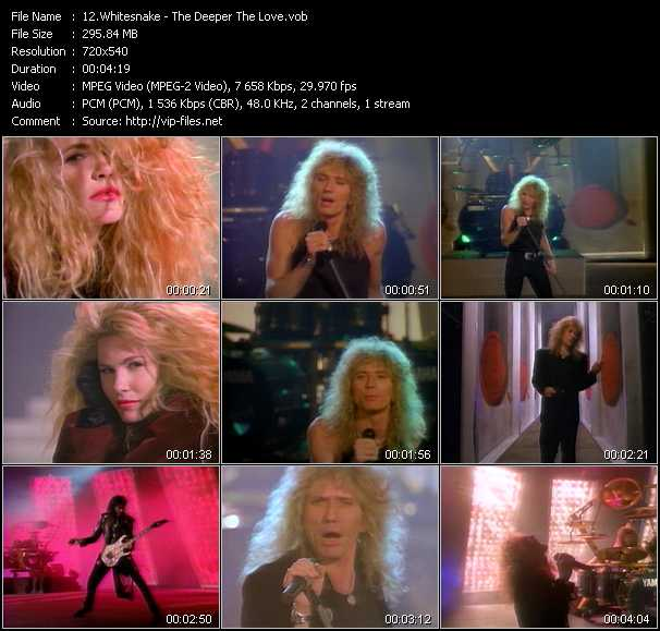 Whitesnake video screenshot