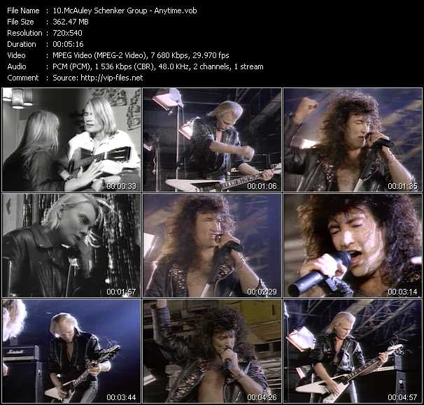 McAuley Schenker Group video screenshot