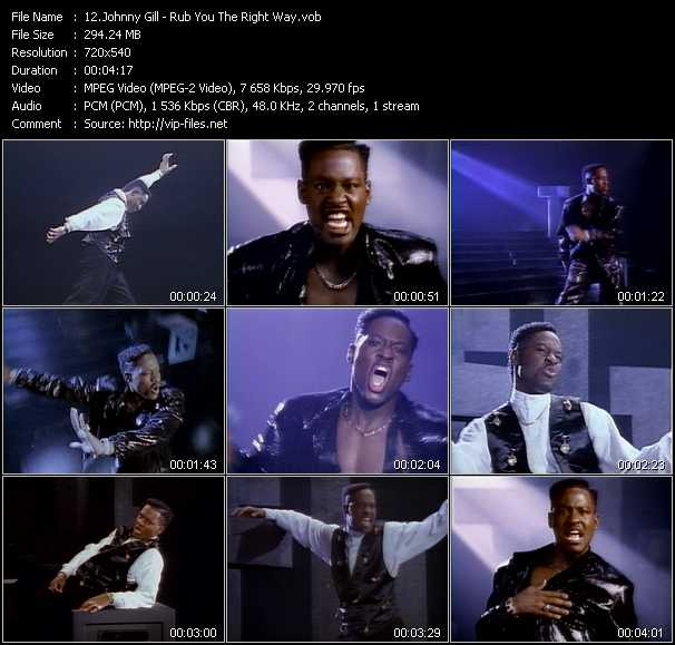 Johnny Gill video screenshot