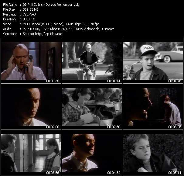 Phil Collins video screenshot