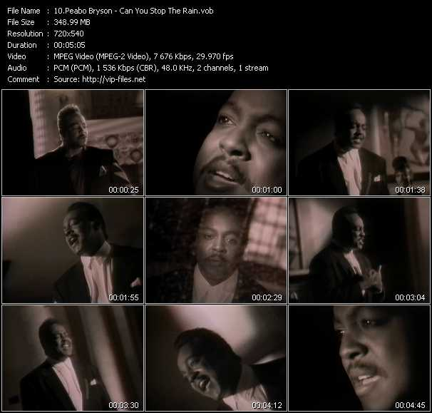 Peabo Bryson video screenshot