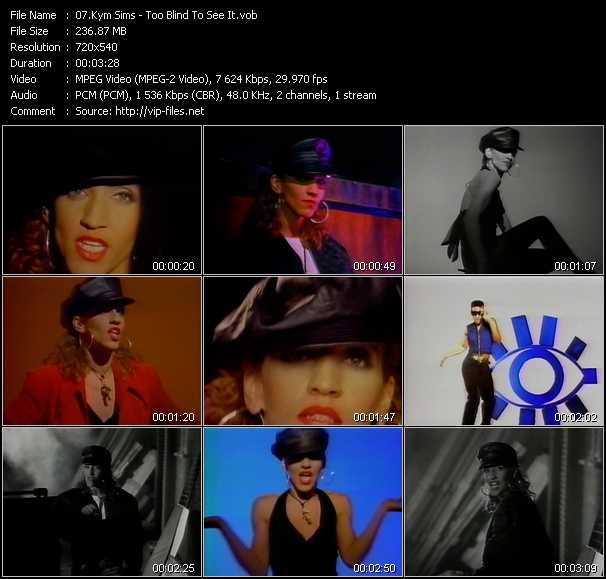 Kym Sims video screenshot
