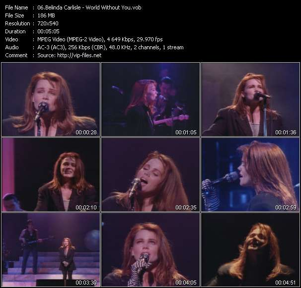 Belinda Carlisle video screenshot