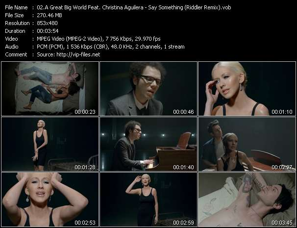 A Great Big World Feat. Christina Aguilera video screenshot