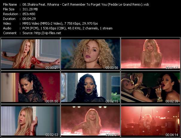 Shakira Feat. Rihanna video screenshot