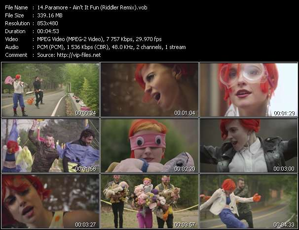 Paramore video screenshot