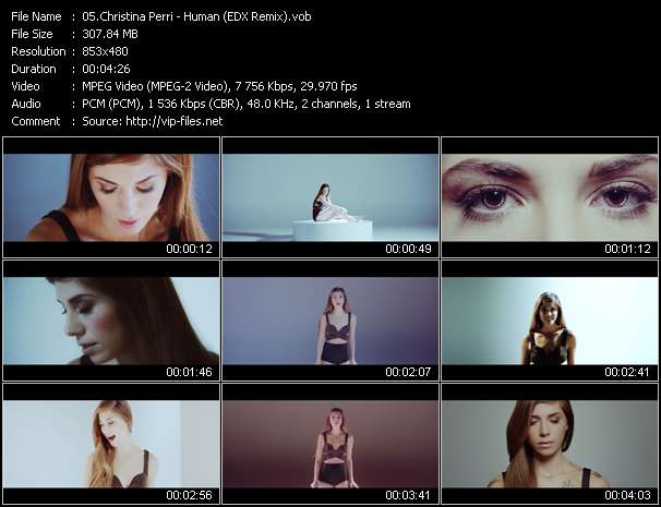Christina Perri video screenshot